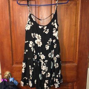 Brandy Melville one size open back floral dress